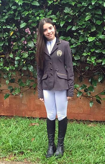 Flash da campeã Pré Mirim, Camila Junqueira Ribeiro de Mendonça
