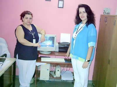 Eliane Quiaratti e Tânia Souto, coordenadoras do CQH no HGT.