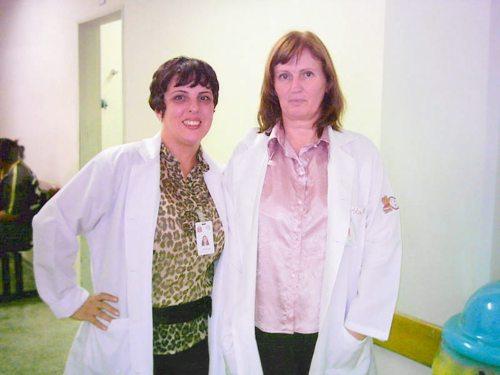 Jaqueline Ruza e Alice Kis coordenadoras dos programas Jovens Acolhedores e Conte Comigo do HGT.